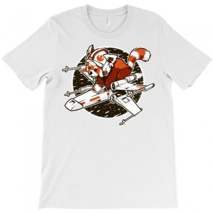 Red Panda, Standing By T-shirt Designed By Meza Design