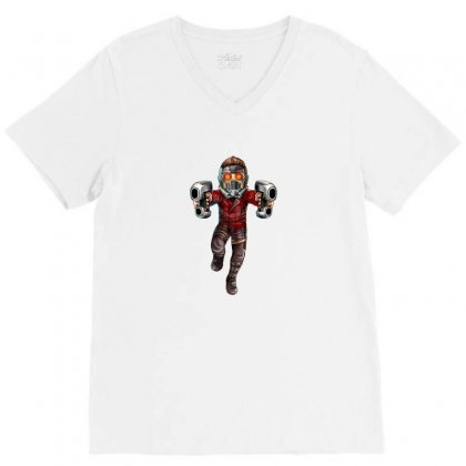 Star Lord V-neck Tee Designed By Thelitlerambo