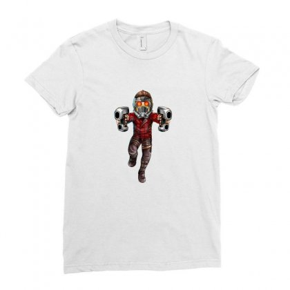 Star Lord Ladies Fitted T-shirt Designed By Thelitlerambo