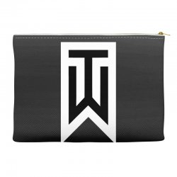 tiger woods white logo Accessory Pouches | Artistshot