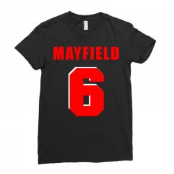 baker mayfield new jersey number Ladies Fitted T-Shirt | Artistshot