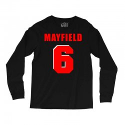 baker mayfield new jersey number Long Sleeve Shirts | Artistshot