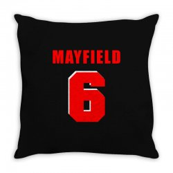 baker mayfield new jersey number Throw Pillow | Artistshot