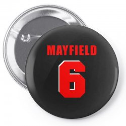 baker mayfield new jersey number Pin-back button | Artistshot
