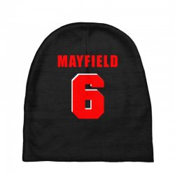 baker mayfield new jersey number Baby Beanies | Artistshot