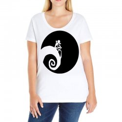 nightmare before christmas black logo Ladies Curvy T-Shirt | Artistshot
