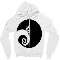 nightmare before christmas black logo Zipper Hoodie | Artistshot