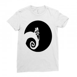 nightmare before christmas black logo Ladies Fitted T-Shirt | Artistshot