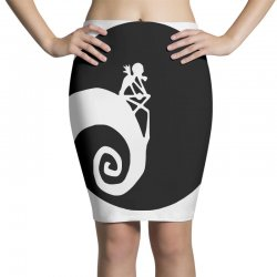 nightmare before christmas black logo Pencil Skirts | Artistshot