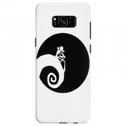 nightmare before christmas black logo Samsung Galaxy S8 | Artistshot
