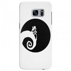 nightmare before christmas black logo Samsung Galaxy S7 Edge | Artistshot