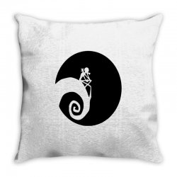 nightmare before christmas black logo Throw Pillow | Artistshot