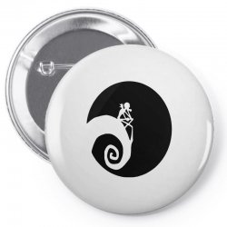 nightmare before christmas black logo Pin-back button | Artistshot