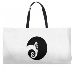 nightmare before christmas black logo Weekender Totes | Artistshot