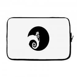 nightmare before christmas black logo Laptop sleeve | Artistshot