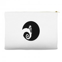 nightmare before christmas black logo Accessory Pouches | Artistshot