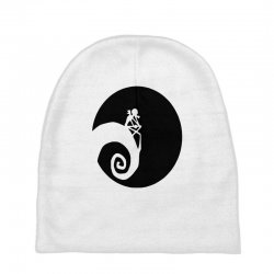 nightmare before christmas black logo Baby Beanies | Artistshot