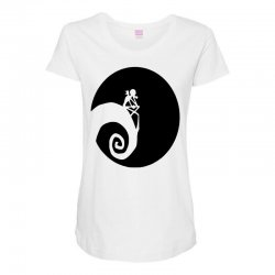 nightmare before christmas black logo Maternity Scoop Neck T-shirt | Artistshot