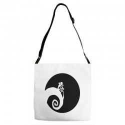 nightmare before christmas black logo Adjustable Strap Totes | Artistshot