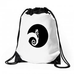 nightmare before christmas black logo Drawstring Bags | Artistshot