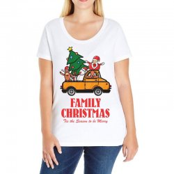 family christmas tis the season to be merry Ladies Curvy T-Shirt | Artistshot