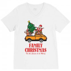 family christmas tis the season to be merry V-Neck Tee | Artistshot