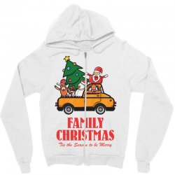 family christmas tis the season to be merry Zipper Hoodie | Artistshot