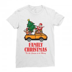 family christmas tis the season to be merry Ladies Fitted T-Shirt | Artistshot