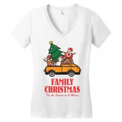 family christmas tis the season to be merry Women's V-Neck T-Shirt | Artistshot