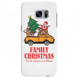 family christmas tis the season to be merry Samsung Galaxy S7 Edge Case | Artistshot