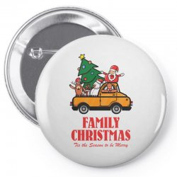 family christmas tis the season to be merry Pin-back button | Artistshot