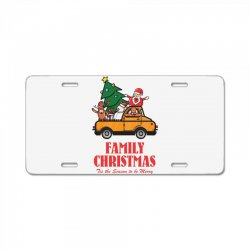 family christmas tis the season to be merry License Plate | Artistshot