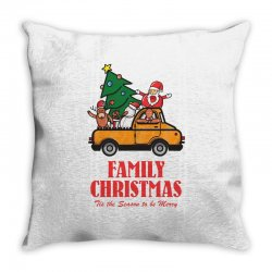 family christmas tis the season to be merry Throw Pillow | Artistshot