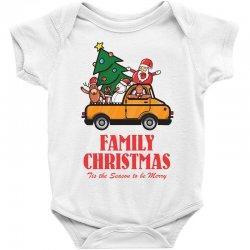 family christmas tis the season to be merry Baby Bodysuit | Artistshot