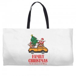 family christmas tis the season to be merry Weekender Totes | Artistshot
