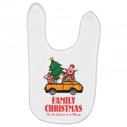 family christmas tis the season to be merry Baby Bibs | Artistshot