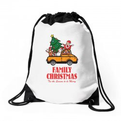 family christmas tis the season to be merry Drawstring Bags | Artistshot