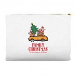 family christmas tis the season to be merry Accessory Pouches | Artistshot