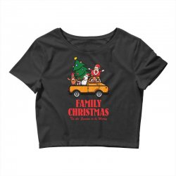 family christmas tis the season to be merry Crop Top | Artistshot