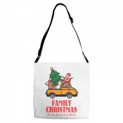 family christmas tis the season to be merry Adjustable Strap Totes | Artistshot