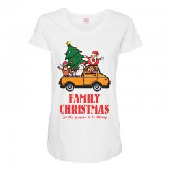 family christmas tis the season to be merry Maternity Scoop Neck T-shirt | Artistshot