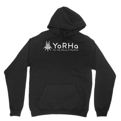 Yorha White Logo Unisex Hoodie Designed By Hot Design