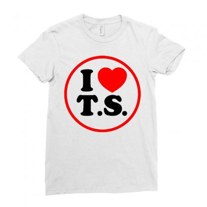 I Love Ts - Taylor Swift Black Logo Ladies Fitted T-shirt Designed By Meza Design
