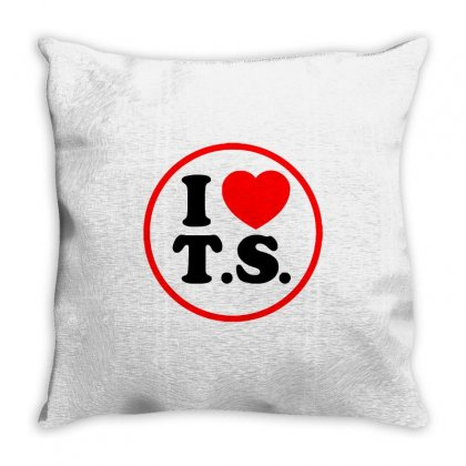 I Love Ts - Taylor Swift Black Logo Throw Pillow Designed By Meza Design