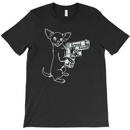 Armed Chihuahua Ox827 Best Trending T-shirt Designed By Mdk Art