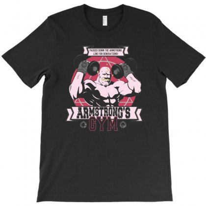 Armstrong's Gym T-shirt Designed By Mdk Art