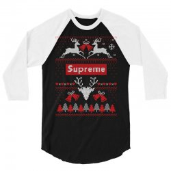 supreme ugly christmas sweater 3/4 Sleeve Shirt | Artistshot