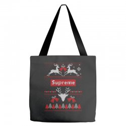 supreme ugly christmas sweater Tote Bags | Artistshot