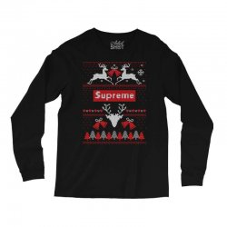 supreme ugly christmas sweater Long Sleeve Shirts | Artistshot