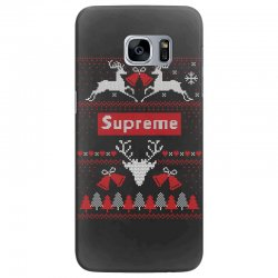 supreme ugly christmas sweater Samsung Galaxy S7 Edge | Artistshot